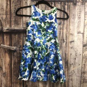 Milly Design Nation sz 6 blue floral dress